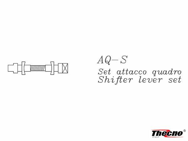 Cod:AQ-S2 - ATTACCO LEVE CAMBIO QUADRO IN ALLUMINIO  AQ-S2 - Thecnoline
