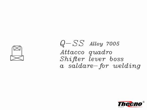 Cod:ATL-ALL - ATTACCO LEVE CAMBIO QUADRO IN ALLUMINIO 7005 ATL-ALL - Thecnoline