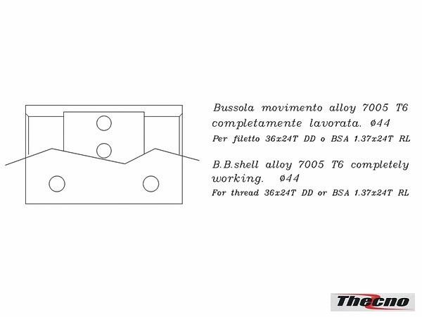 Cod:BB-BSA-ALLOY - BUSSOLA MOVIMENTO BSA IN ALLUMINIO BB-BSA-ALLOY - Thecnoline