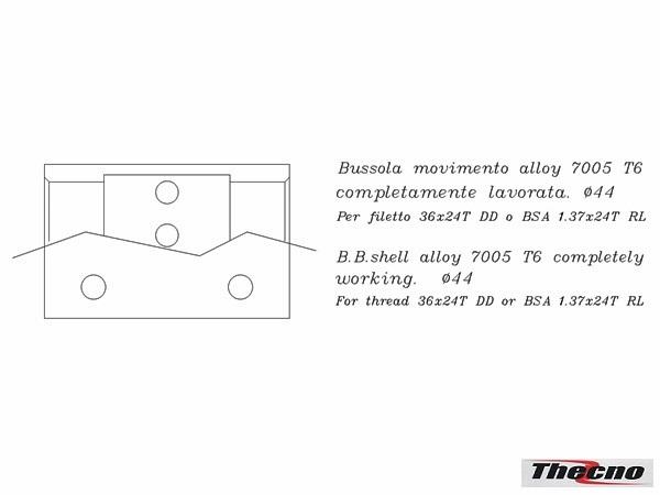 Cod:BB-ITA-ALLOY-CON - BUSSOLA MOVIMENTO IN ALLUMINIO CONICA BB-ITA-ALLOY-CON - Thecnoline