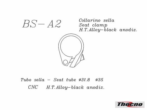 Cod:BS-A2-35 - COLLARINO REGGISELLA IN ALLUMINIO ANODIZZATO NERO BS-A2-35  - Thecnoline