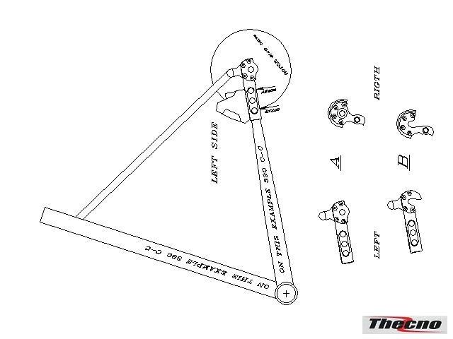 Cod:FP-FM01 - FORCELLINI POSTERIORI CNC PER FRENI A DISCO FLAT MOUNT SYSTEM FP-FM01 - Thecnoline