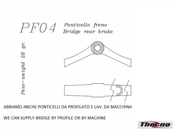 Cod:PF04 - PONTICELLO FRENO IN MICROFUSIONE PF04 - Thecnoline
